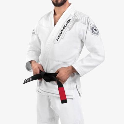 Hayabusa Goorudo3 Gold Weave Jiujitsu Uniform BJJ GI Brazilian White Genuine